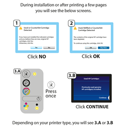 HP 301 Colour (CH562E) - Ink Support For Toner Support